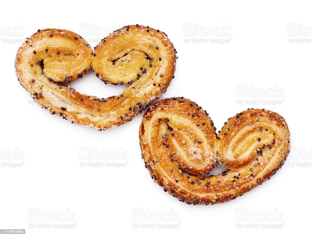heart-shaped cookies royalty-free stock photo