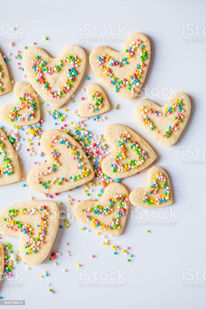 Biscotti a forma di cuore - foto stock