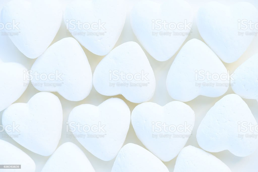 Heart-shaped decorations stock photo