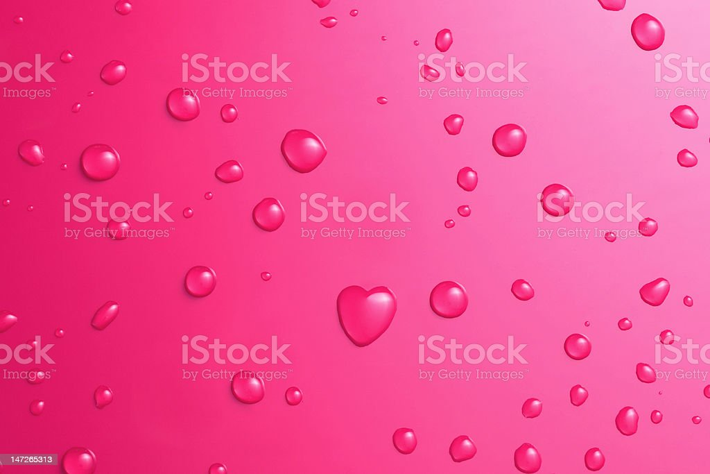 Heartshaped drop of water royalty-free stock photo