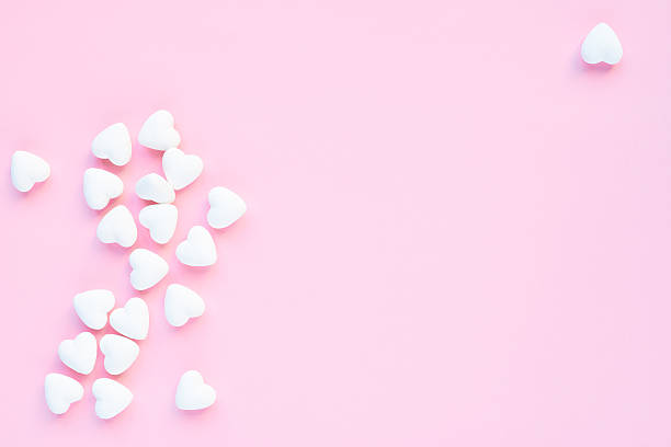 Heart-shaped marshmallows - Photo