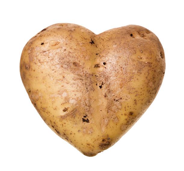 Heartshaped Potato stock photo