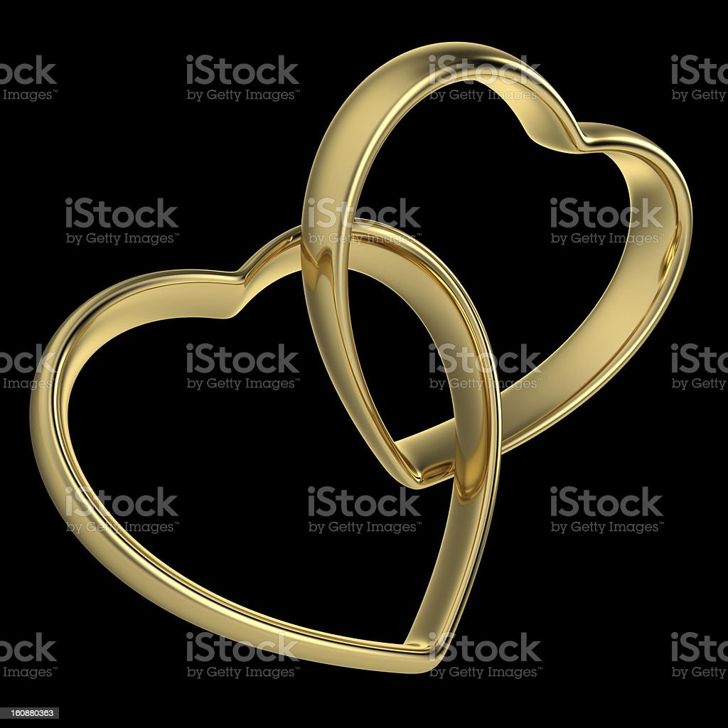 Heart-Shaped Wedding Rings stock photo