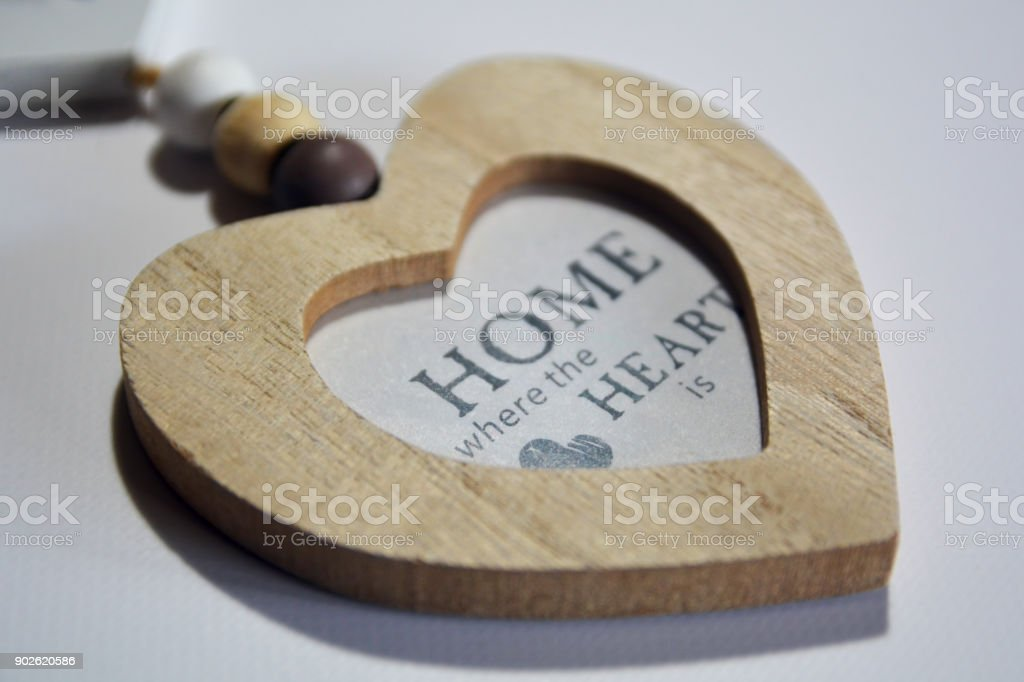 Heartshaped Wooden Picture Frame Stock Photo More Pictures Of