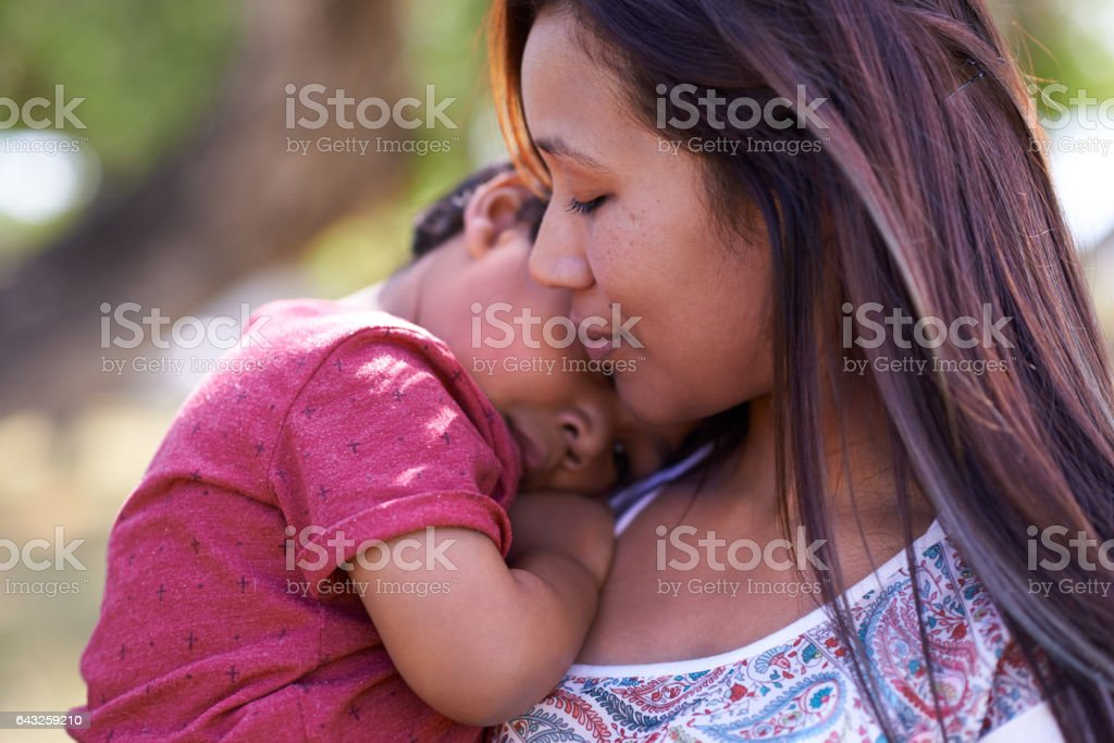Heartwarming moments with Mom stock photo