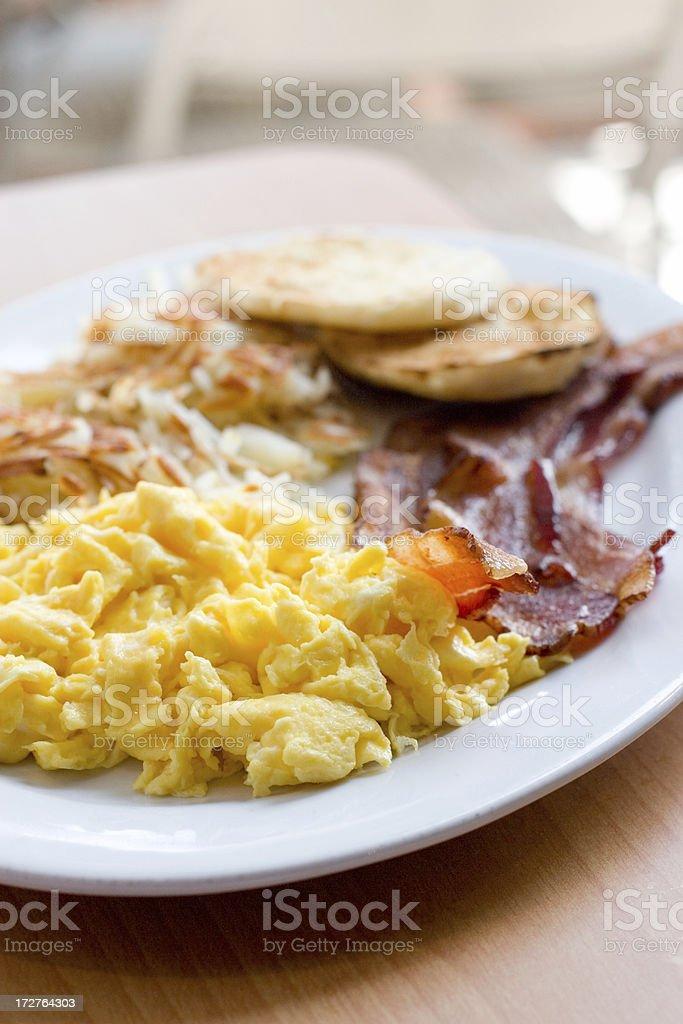 Hearty American Breakfast royalty-free stock photo