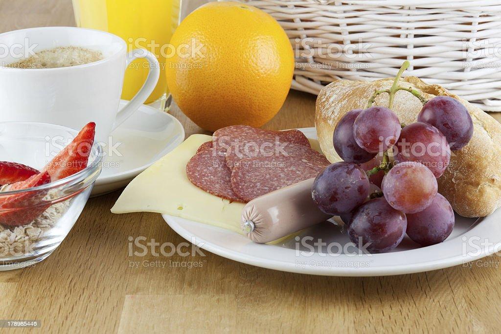 deftiges frühstück stock photo