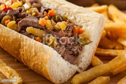istock Hearty Italian Beef Sandwich 475709265