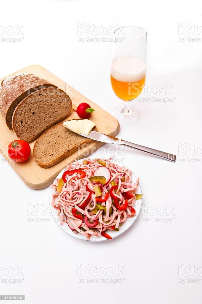 Hearty Snack Bavarian Style stock photo