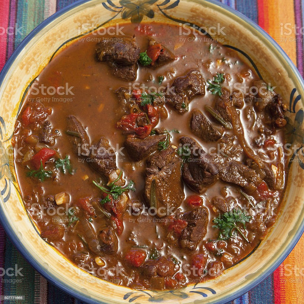 Hearty Spanish Stew stock photo