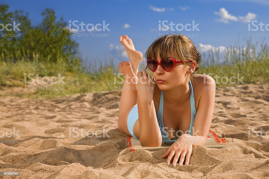 Heat and girl royalty-free stock photo