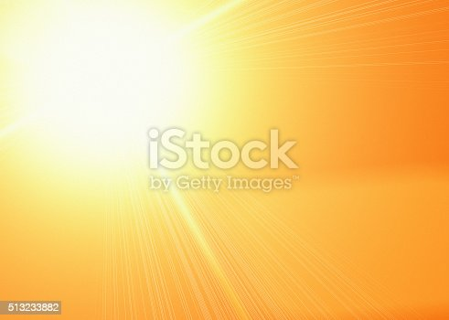 istock Heat and light: Dazzling sun in a golden sky 513233882