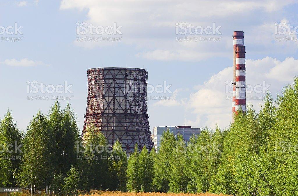 Тепло- и электростанция Стоковые фото Стоковая фотография