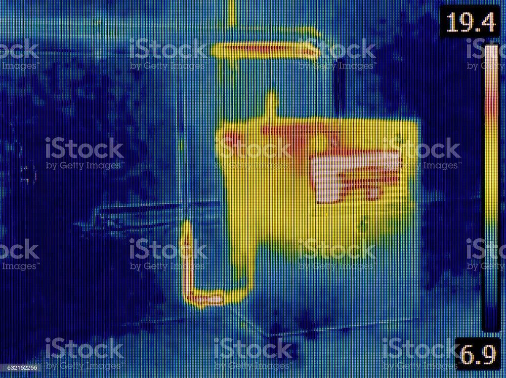 Heat Distribution Detection stock photo