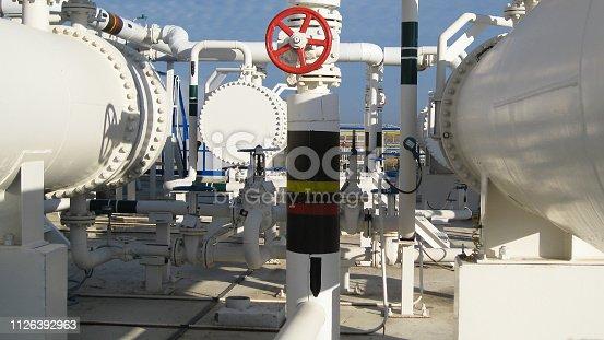 istock Heat exchangers in a refinery 1126392963