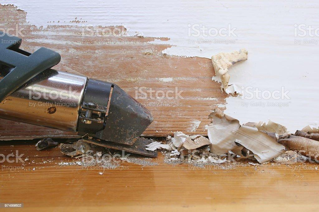Heat gun nozzle. royalty-free stock photo