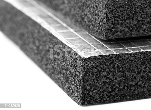 istock Heat Insulation Slab with Foil sheet 494032926
