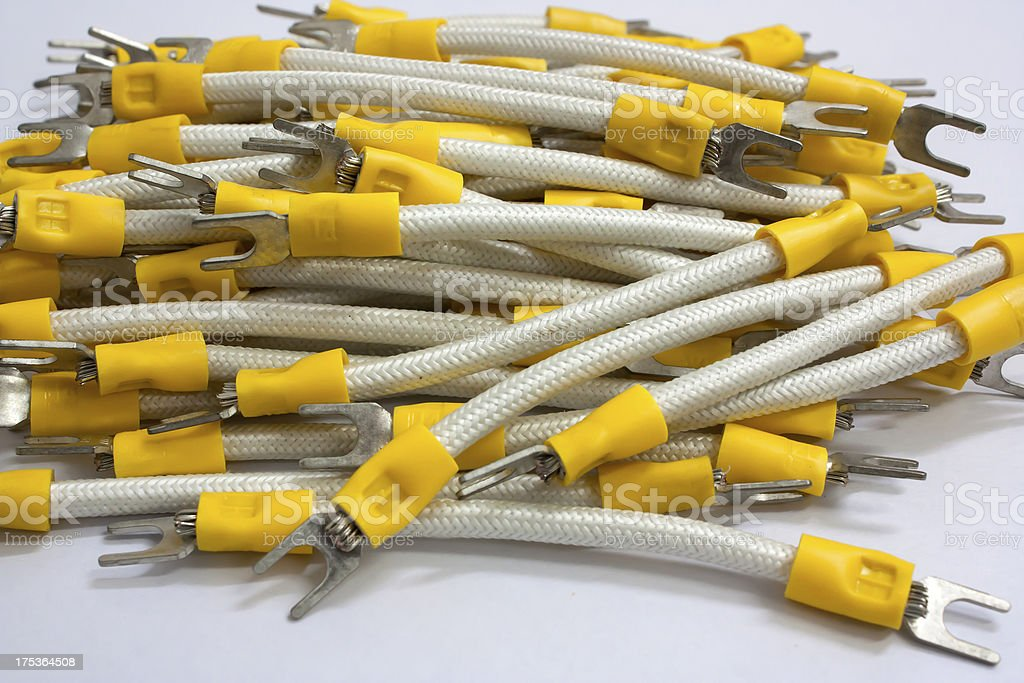 Heat resistant wire. royalty-free stock photo