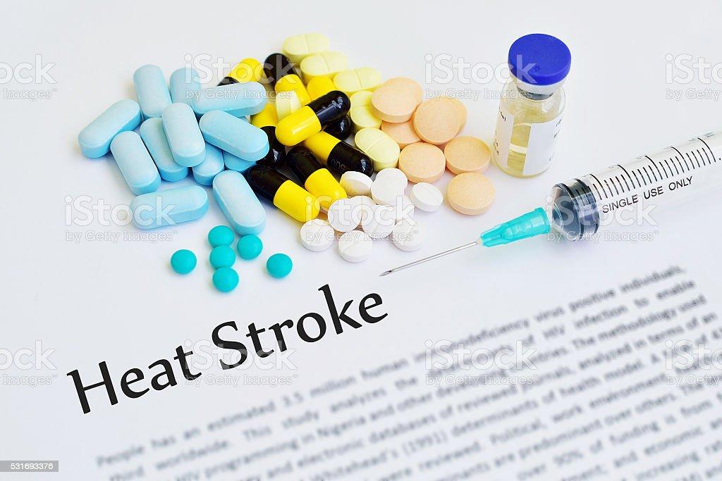 Heat stroke stock photo