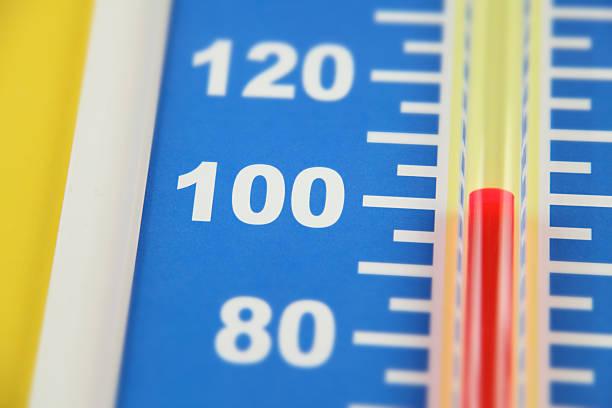 Heat Wave (Farenheit) stock photo