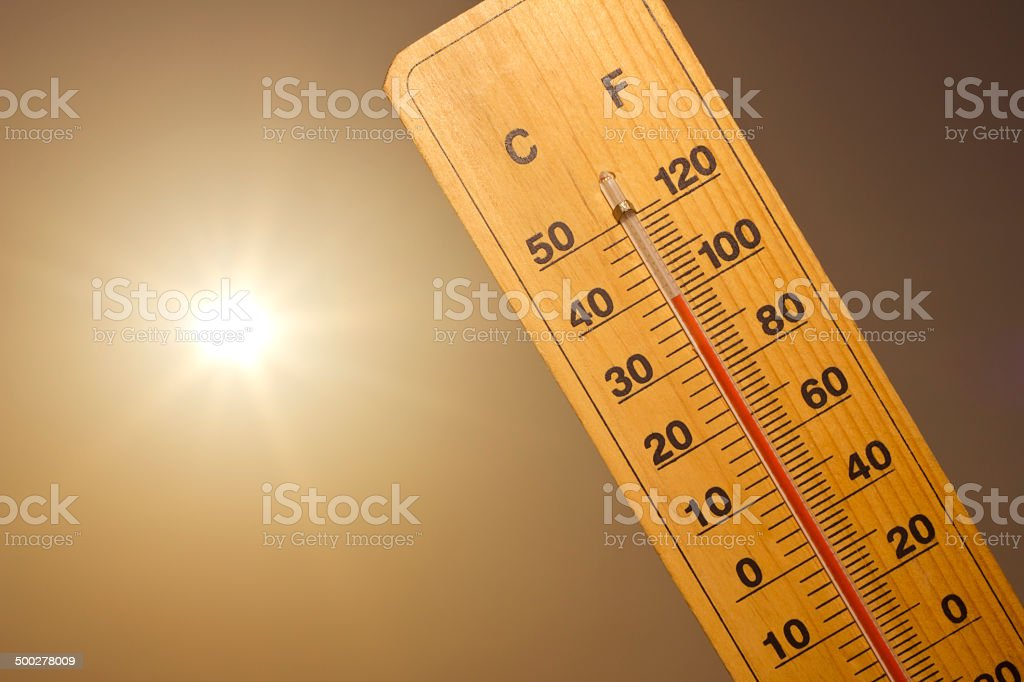 heat wave stock photo