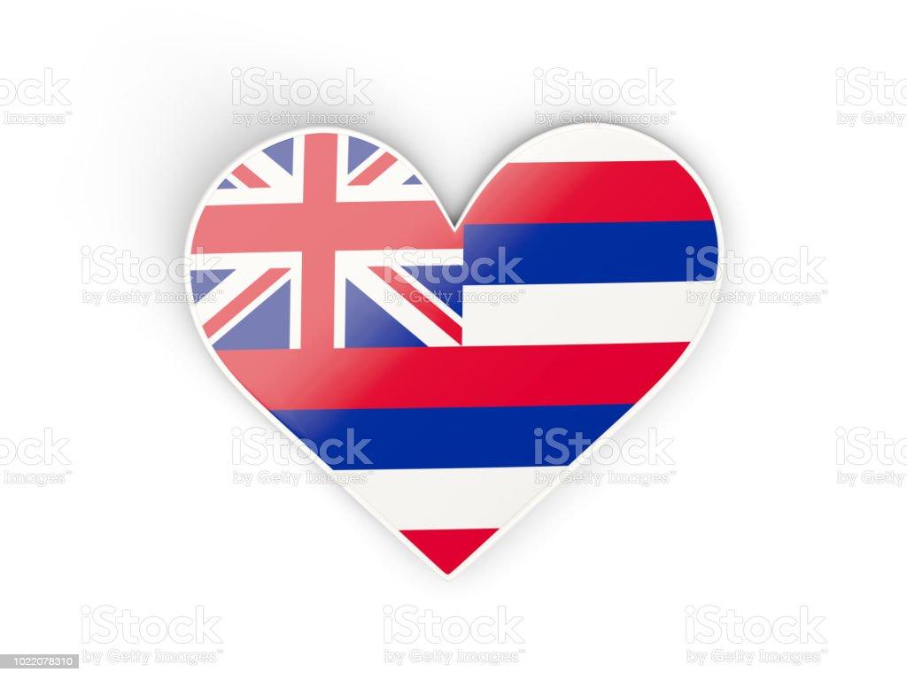 Aqueça-se com a bandeira do Havaí. Bandeiras de locais dos Estados Unidos - foto de acervo