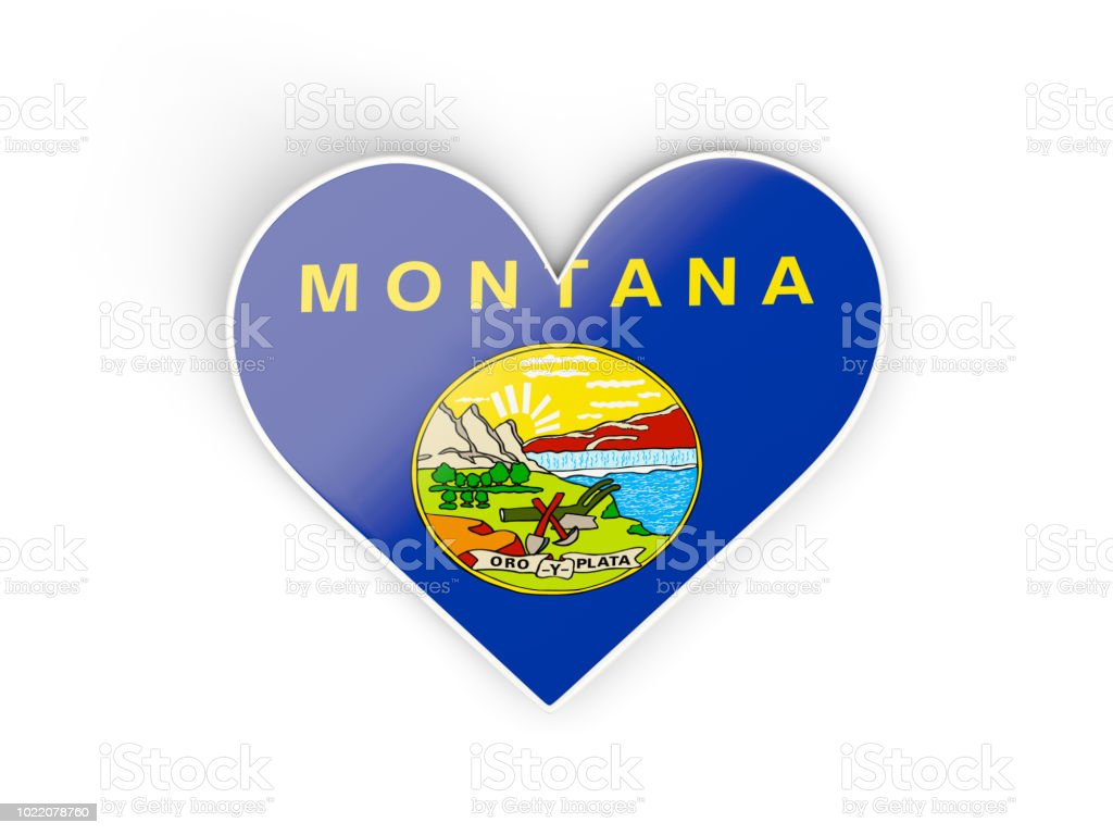 Aqueça com bandeira de montana. Bandeiras de locais dos Estados Unidos - foto de acervo