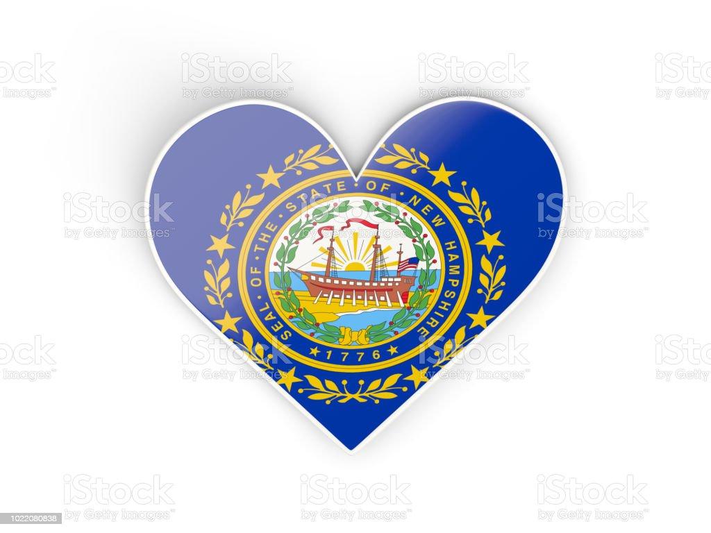 Aqueça com bandeira de new hampshire. Bandeiras de locais dos Estados Unidos - foto de acervo