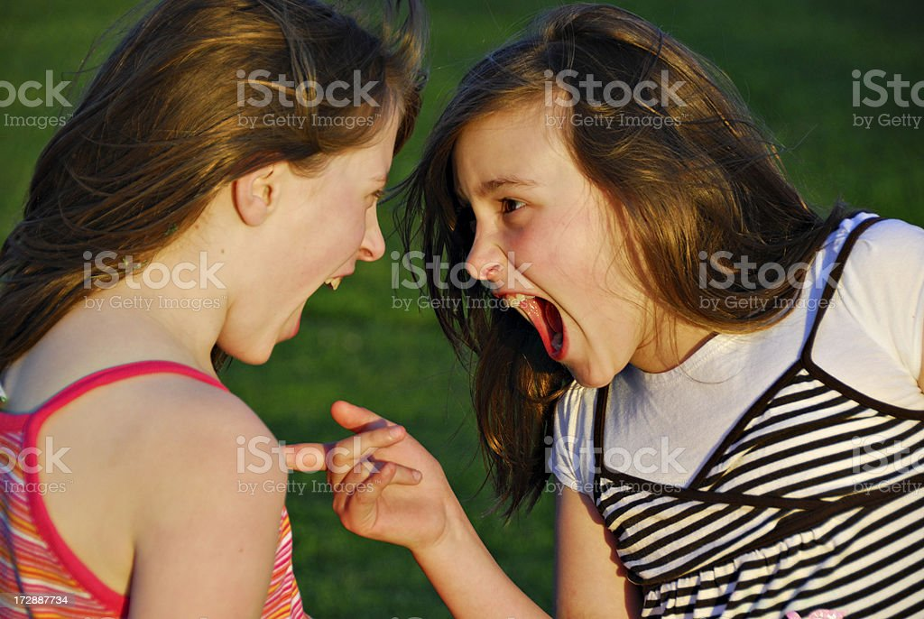Heated Argument stock photo