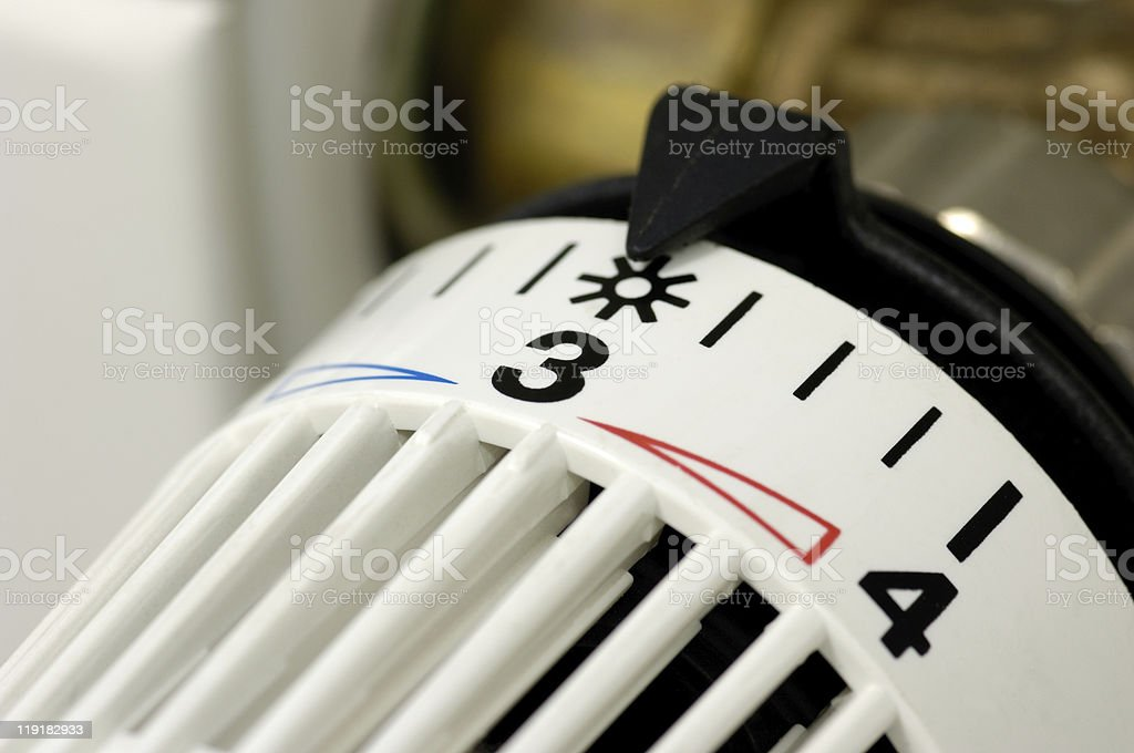Heater regulation royalty-free stock photo