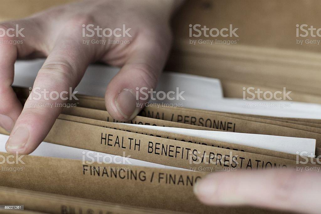Heath benefit files royalty-free stock photo