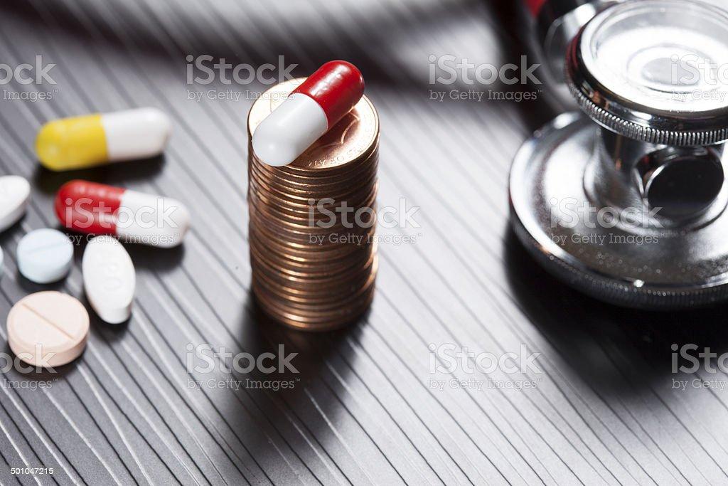 heathcare costs stock photo