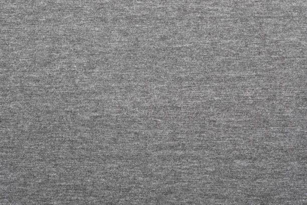 Heather grey knitted fabric textured background stock photo