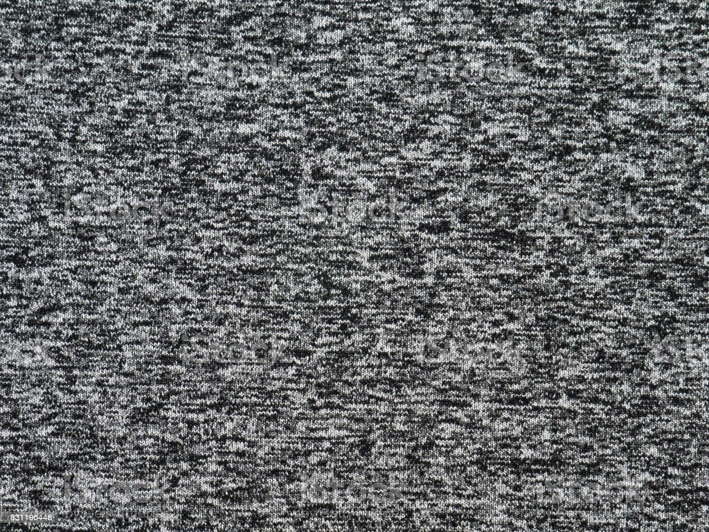 Heather grey polyester sportwear knitted fabric stock photo