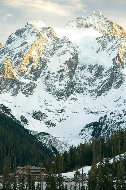 Heather Meadows-Monte Baker área de esqui de 1 - foto de acervo