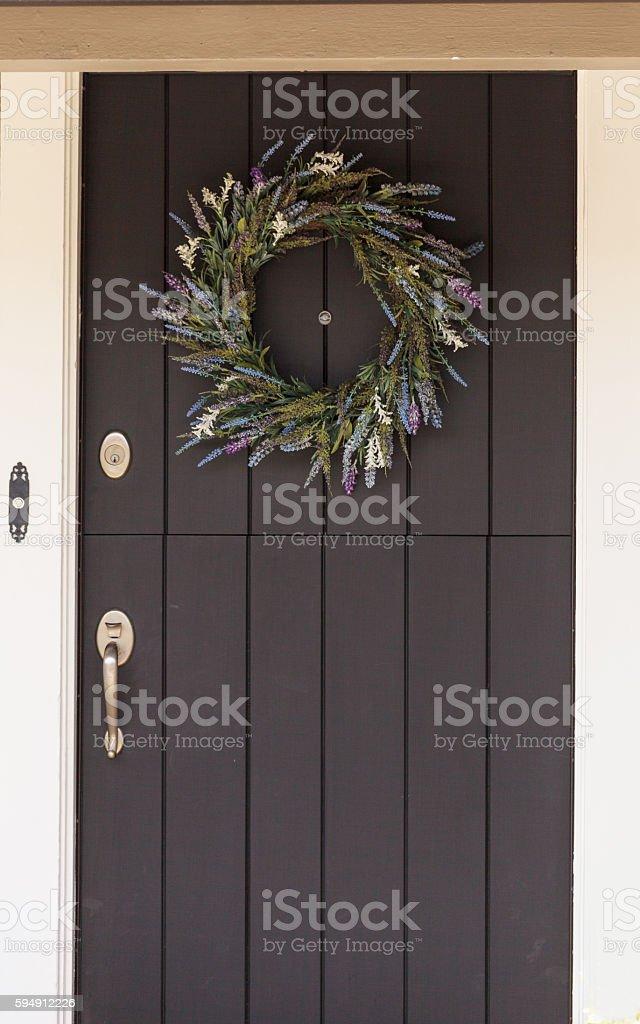 Heather wreath stock photo