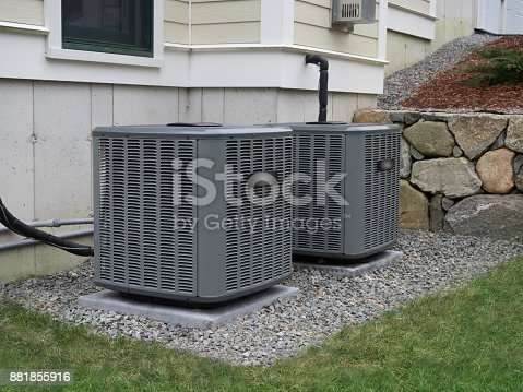 istock Heating and air conditioning home units 881855916