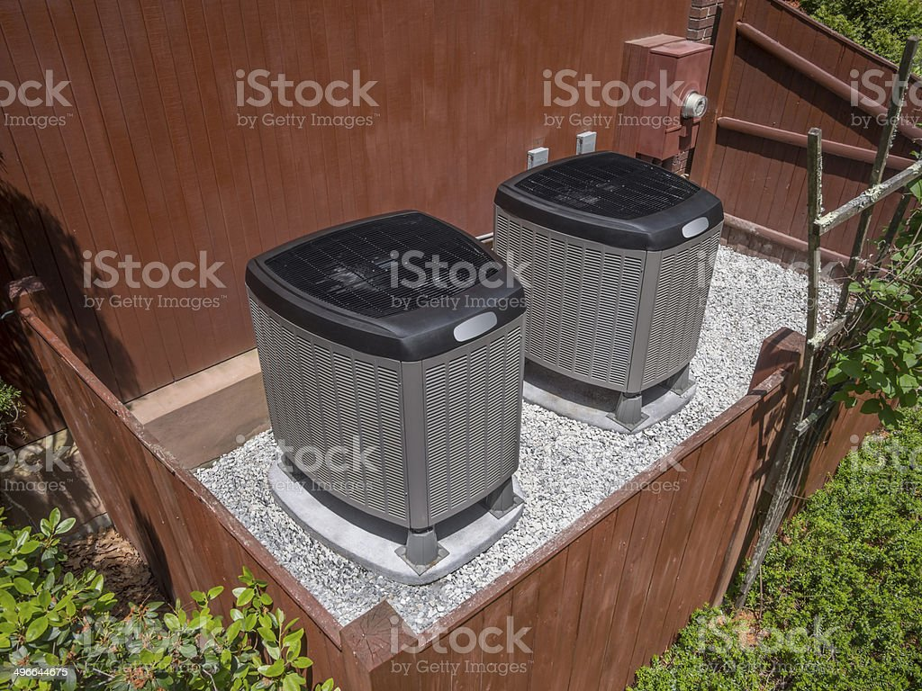 heating and air conditioning system stock photo