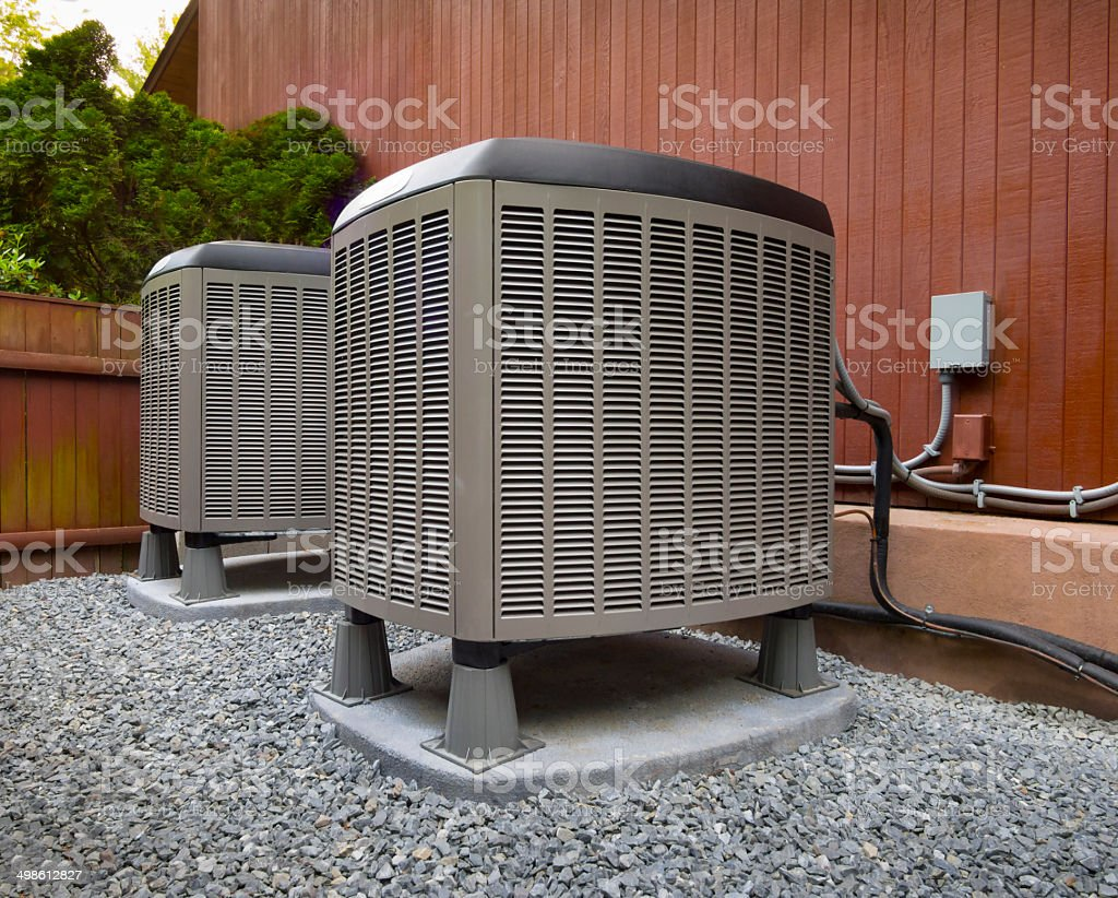 HVAC heating and air conditioning unots stock photo