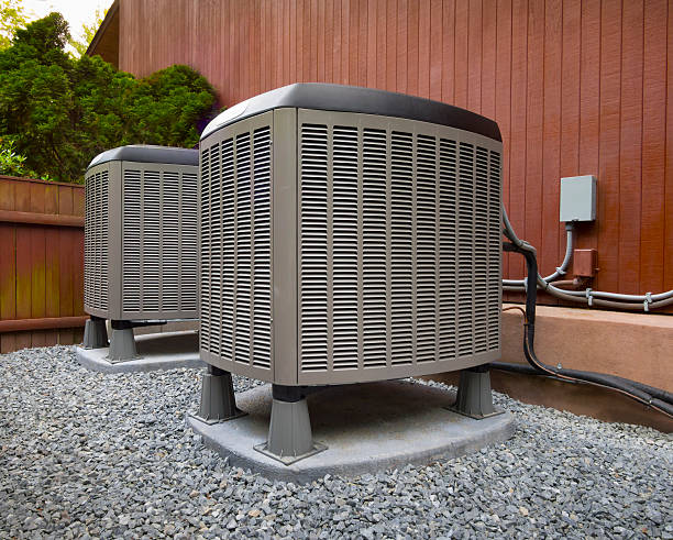 hvac heating and air conditioning unots - warmte stockfoto's en -beelden