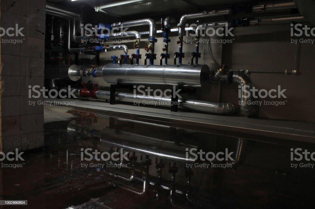 Interior of a boiler room