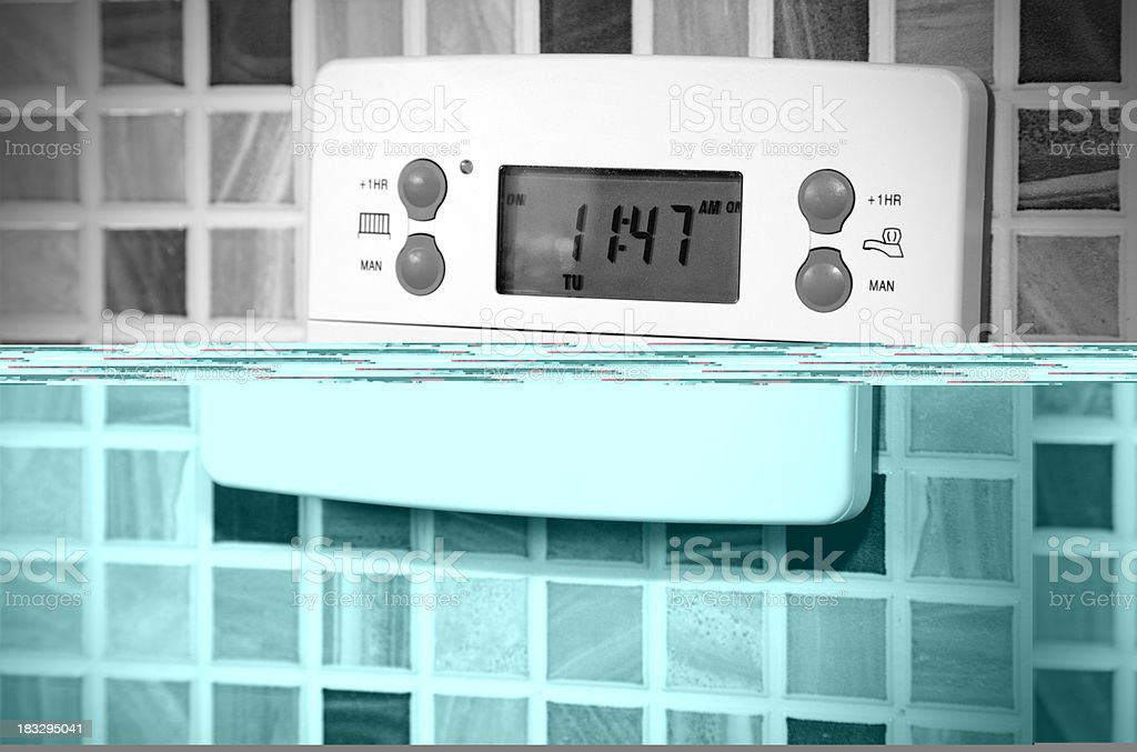 heating and water thermostat royalty-free stock photo