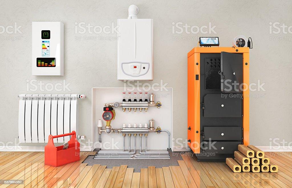 Heating concept. stock photo