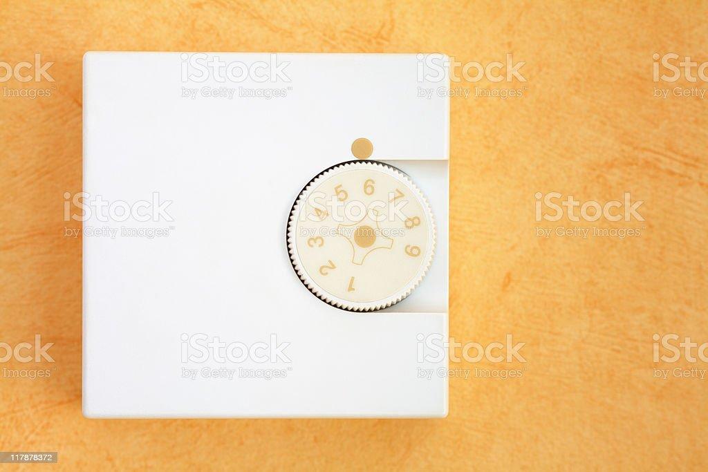 Heating control panel stock photo