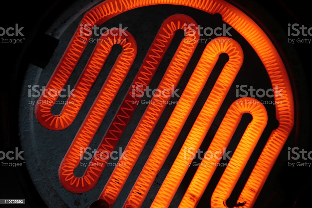 Heating element stock photo