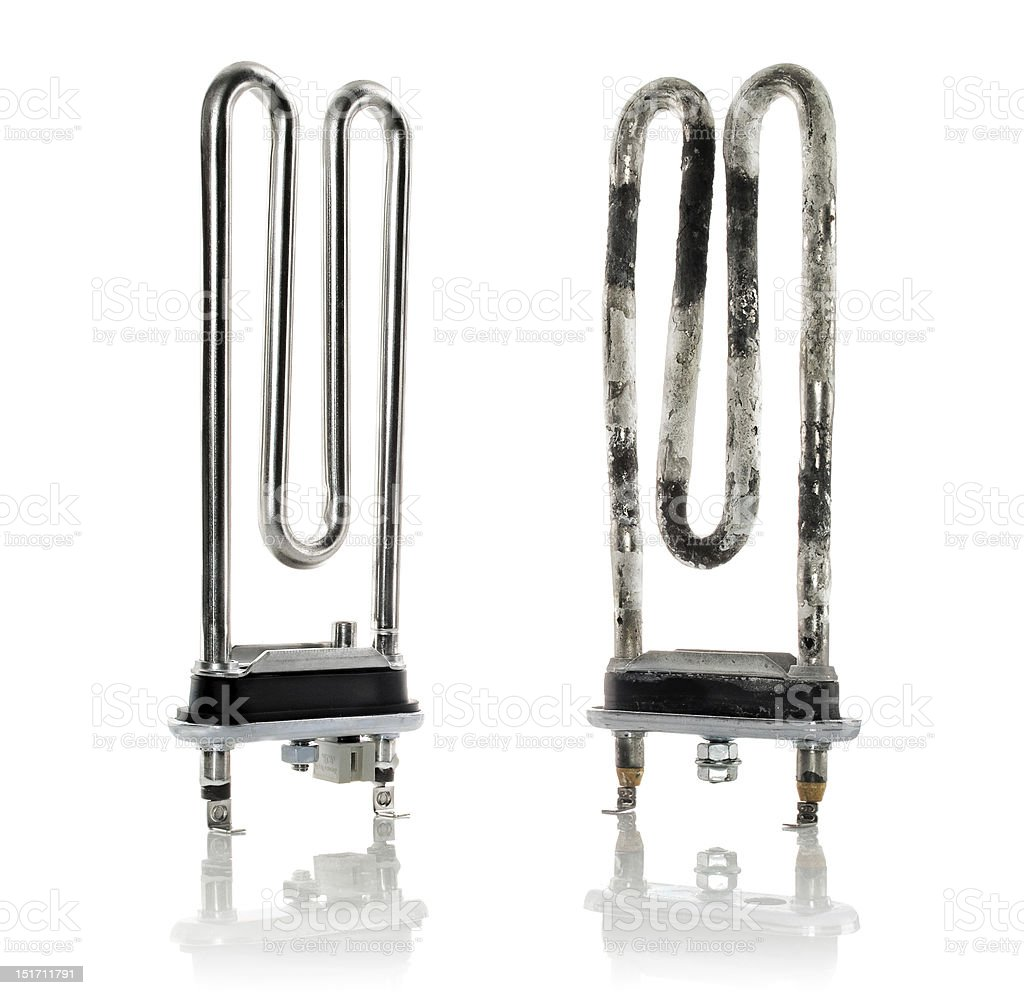 heating elements in good and bad condition stock photo