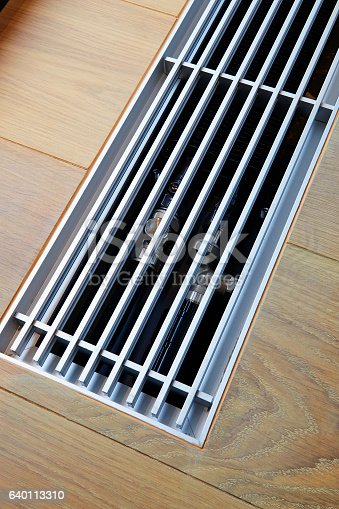 istock Heating grid with ventilation by the floor. 640113310