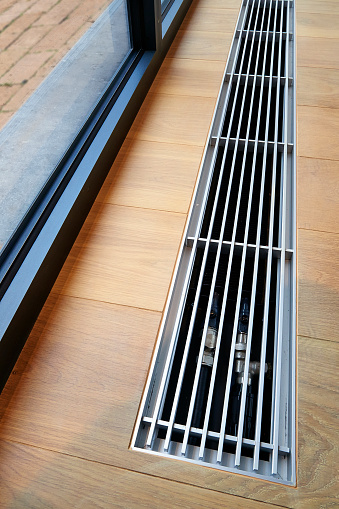 istock Heating grid with ventilation by the floor. 640113422