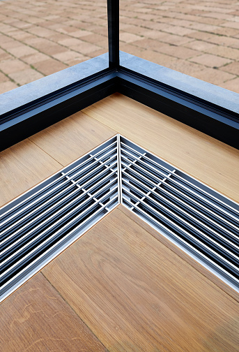 istock Heating grid with ventilation by the floor. 640113528
