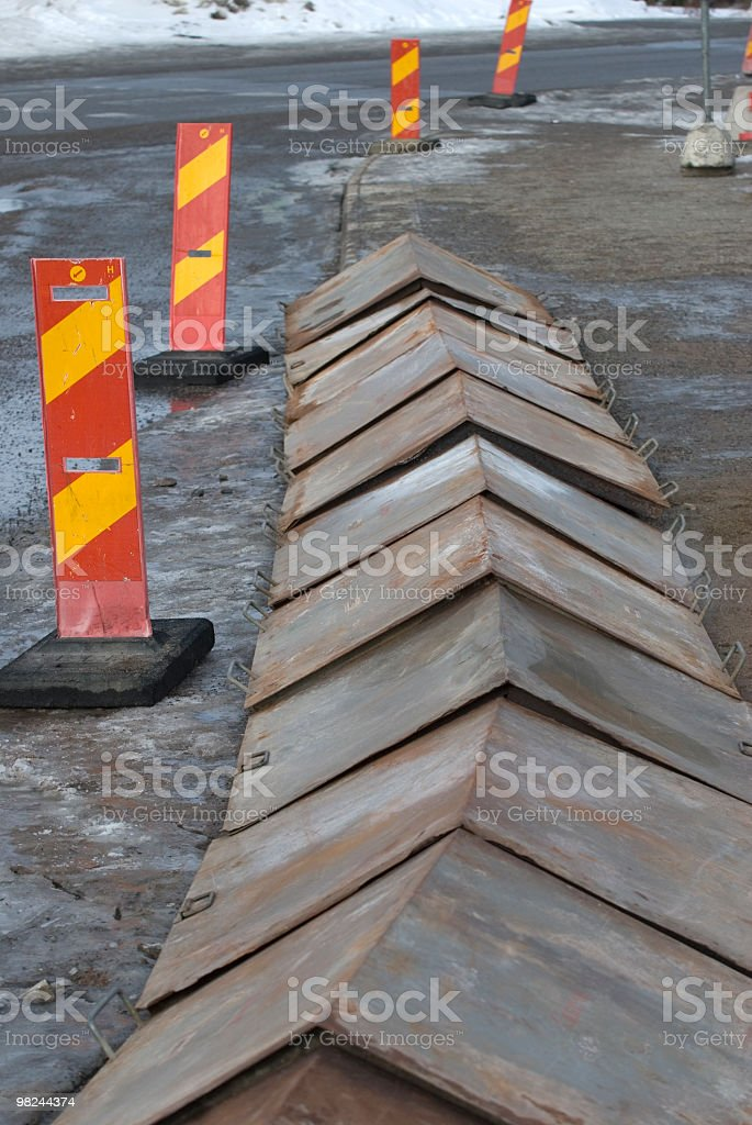 heating of the pavement royalty-free stock photo